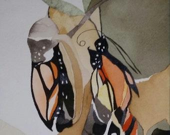 "Monarch Series.  "" Transformation"" original, one of a kind watercolor"
