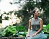 Jen Crop Tank / Heather Gray / Cropped Tank / Jewel Neckline / High Neck Top / Short Tank Top / Matches the Tessa Tutu / Holiday Fashion