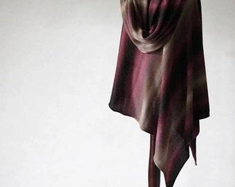 Alpaca poncho/women's cape/women's sweater/knit poncho/women's coat/alpaca cape/women's poncho/knit cape/alpaca sweater/turtleneck poncho