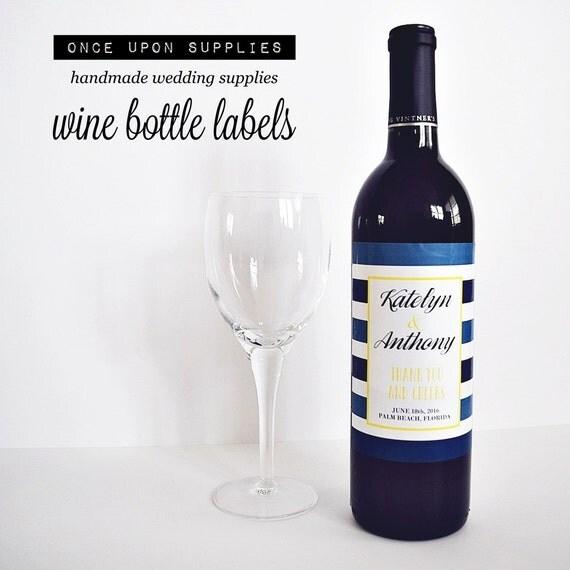 Items Similar To Custom Waterproof Labels Wine Bottle