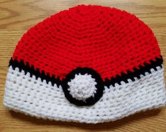 Crochet Pokeball Hat