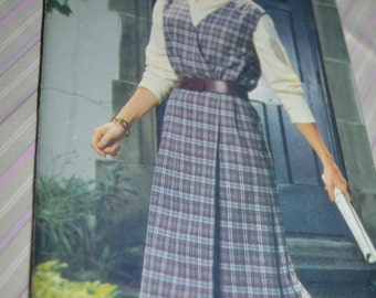 See and Sew 5211Misses Misses petite Jumper  Sewing Pattern UNCUT Sizes 8 10 12