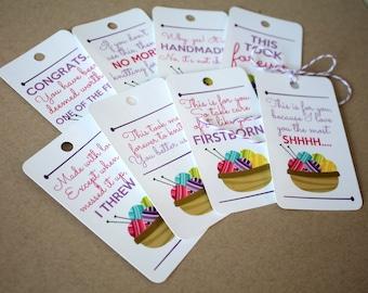 Sassy KNIT Gift Tags - Set of 8 Gift Tags
