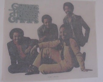 Vintage 1976 Gladys Knight And The Pips Iron On Transfer
