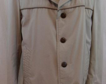 Vintage 60s 70s  Light Brown McGregor Preppy Coat/Jacket L.