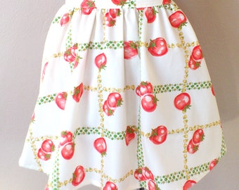 Tomato skirt apron/ Women apron/ Half apron/ Kitchen Cooking Apron/ Gift