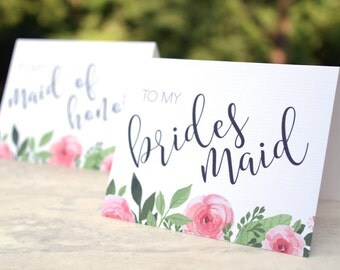 Bridesmaid Thank You Cards - Wedding Thank You Cards - Maid of Honor - Flower Girl - Matron of Honor