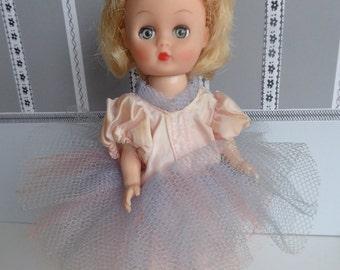 "Vintage BALLERINA DOLL COSTUME for 8""-9"" dolls such as Modern Ginny, Kripplebush Kids, Pepper, Riley Kish, etc"