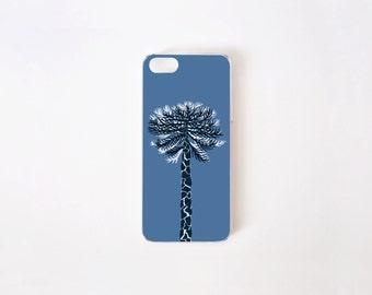 iPhone 5/5s Case - Araucaria iPhone Case - Floral iPhone Case - Blue Araucaria - Flor de Chile Special Collection