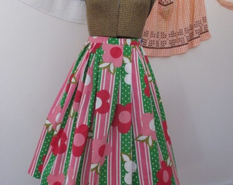 Vintage 1950s/60s Style Cotton Skirt - Made by Me