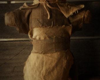 Primitive Grubby Prairie Stump Sitter Doll