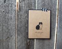 Cat Thank You Card, Cute Thank You Set, Set of 6