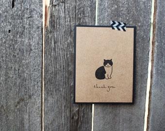 Cat Thank You Card, Cat Thank You Card Set, Cat Cards, Thank You Card Set, Handmade Thank You cards, Handmade Cat Cards, Cute Thank You Set