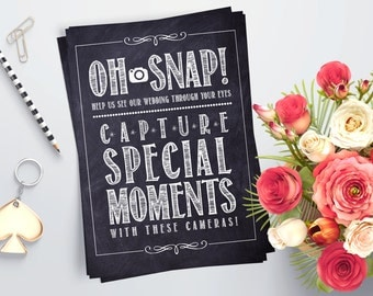 Printable Wedding Instant Camera Sign