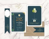 book invitation   library invitation   first birthday   adventure invitation   boys invitation   book theme   freshmint paperie