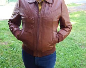 Toffee Colored Leather Unisex Jacket