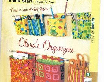 K3900 Kwik Sew Hanging Organizers in Four Sizes Sewing Pattern Beginner Friendly Fat Quarter Friendly
