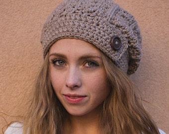 Rustic Slouch Hat Crochet Pattern (Rustic Slouchy Hat Crochet Pattern by Little Monkeys Crochet) Slouch Slouchy PDF Crochet Pattern Chunky