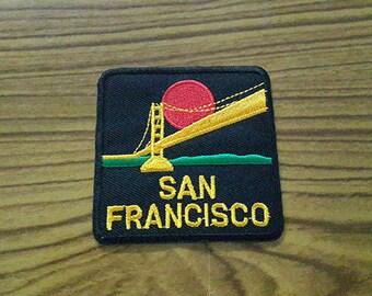 Golden Gate Bridge San Francisco Applique Embroidered Iron on Patch 6.5x6.6 cm