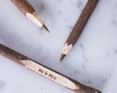 Engraved Twig Ballpoint Pen - Personalised Twig Pen - Wooden Engraved Pen - Rustic Pen - Wedding Pen - Wedding Favours - Wooden Pen