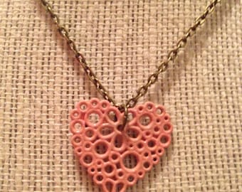 "20"" Pink Heart Necklace"