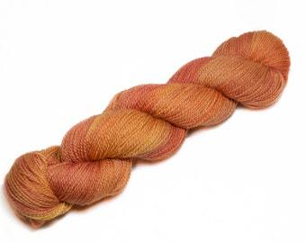 Namaste – Orange and Yellow Hand Dyed, British Bluefaced Leicester Wool and Nylon Yarn – Sock Weight – BFL Hand Dyed Sock Yarn (100g)