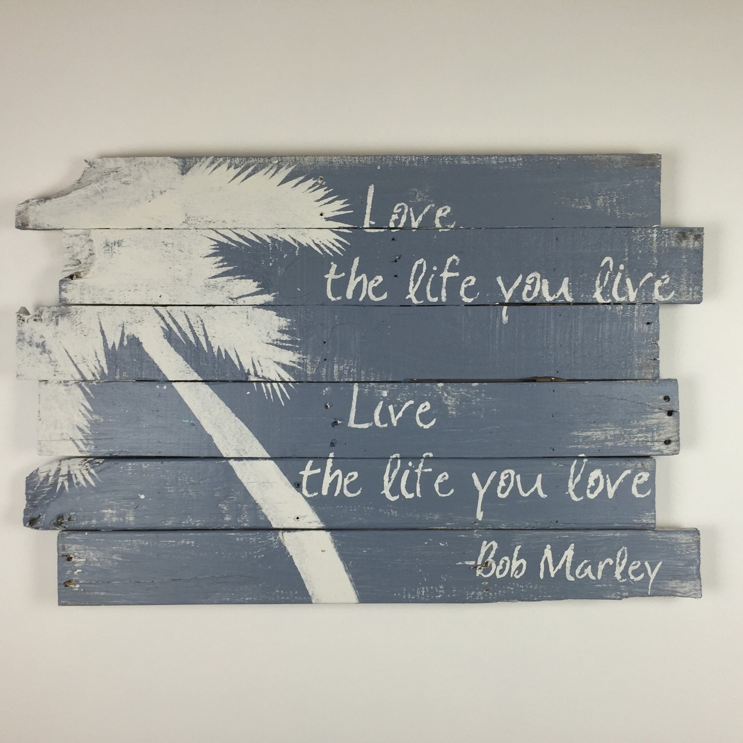 Beach Decor Bob Marley Palm Tree And Love The Life 32 X