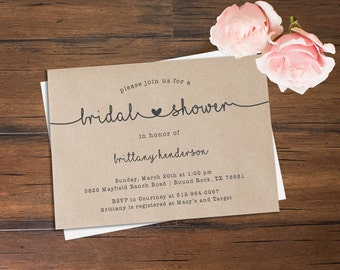 Bridal Shower Invitation \\ One Heart Collection