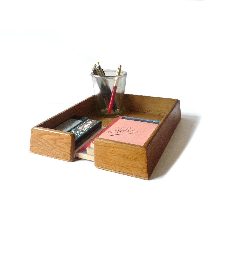 Perfect Vintage Faux Wood Desk Organizer  Haute Juice