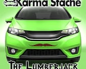 """24"""" Car Mustache Vinyl Decal Sticker - Style; Lumberjack - Color; Brown  -  Karma Stache: Your #1 Source for Car Mustaches!"""
