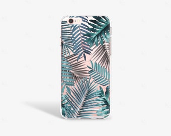 iPhone 6 Case Tropical iPhone 6S Case Clear iPhone 7 Case Clear Green iPhone Case Samsung Galaxy S8 Case Clear Tropical Print