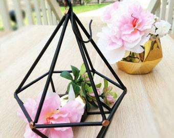 Diamond Geometric Decor - Geometric Decor, Geometric Candle Holder, Hanging Planter, Gold Geometric Planter, Geometric Wedding