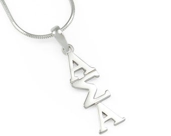 Alpha Sigma Alpha Sterling Silver Lavaliere // ΑΣΑ Sorority Jewelry // Initiation gifts // College Girl Gifts // Big & Little gifts // Greek
