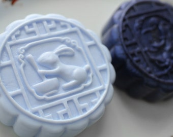 Mooncake Rabbit Soap / Mooncake Chang'e Soap / Bunny Soap / Maiden Soap - You pick the Design