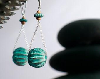 Sea urchin earrings   ...