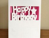 Happy Birthday - Cut-out Birthday Card