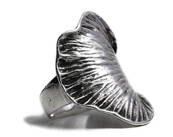Artisan Ring Leaf Sterling Silver