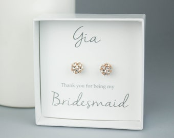 Bridal Party Gift, Bridesmaids Earrings,Personalized Bridesmaids Gift, Bridesmaids Studs, Bridesmaids Gifts, bridesmaid jewelry, Bridal