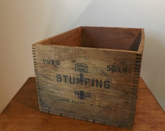 Olin Stumping No. 2 Explosives Crate ~ Logger's Dynamite Box ~ Photo Prop ~ Storage ~ Gift for Men ~ Man Cave