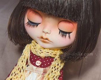 Choose color-Knitted scarf for blythe, pullip, pure neemo, other 1/6 dolls