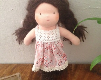 Brown Hair Waldorf Doll