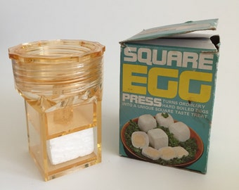 Vintage Square Egg Press-Turned Ordinary Hard  Boiled Eggs Into a Square!