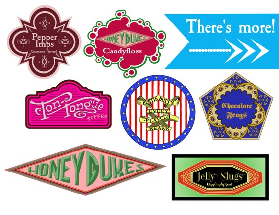 Unofficial Harry Potter Candy Labels Harry Potter Party Props