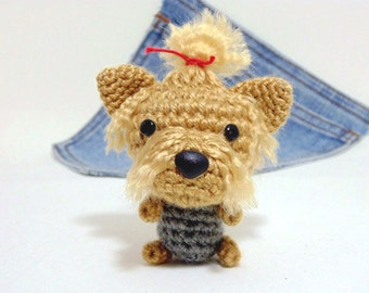 Amigurumi crochet Yorkshire Terrier, Yorkshire Puppy, Dog toy, Dog plushie. Stocking stuffer.Cij