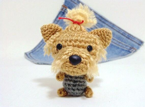 Amigurumi Crochet Yorkie : Amigurumi crochet Yorkshire Terrier Yorkie Puppy Dog by ...