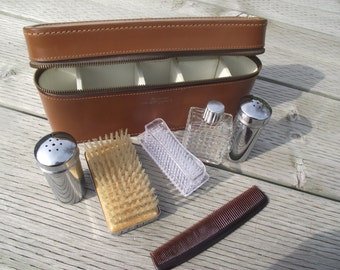 VINTAGE GROOMING KIT,Men's Travel Kit,Travel and Grooming,Shaving Kit,Preppy Gift for Man,Back to School Toiletry Kit,Dorm Room Essentials