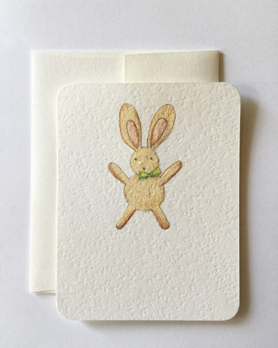 Bunny with Green Bowtie Note Set