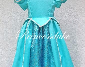 Princess Ariel in Sea Foam Green Inspired Princessduke Gown