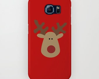 Red Galaxy S7 Case, Iconic Reindeer iPhone 6 Case, iPhone 5, iPhone 6 Plus, iPhone 5c, iPhone 5s, Galaxy s5 Case, Samsung Galaxy s4