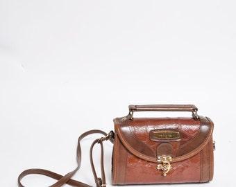 Vintage Brown Faux Leather Mini Shoulder HandBag